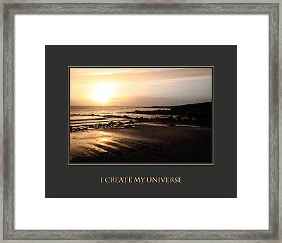 I Create My Universe Framed Print by Donna Corless