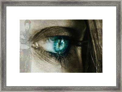 I Cried For You  Framed Print