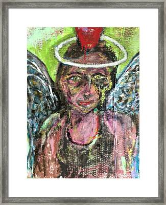 I Dare You Angel Framed Print by Charles Long