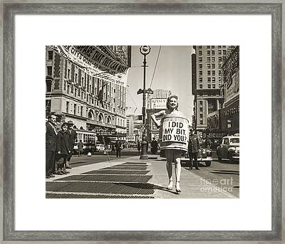 I Did My Bit  Framed Print by Jon Neidert
