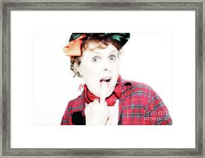 I Don't Care  Framed Print by Steven Digman