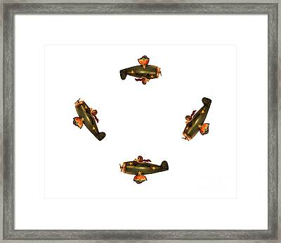 I Dont Want To Be Tail End Charlie Framed Print by Linsey Williams