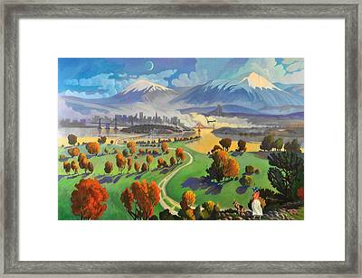 I Dreamed America Framed Print by Art James West