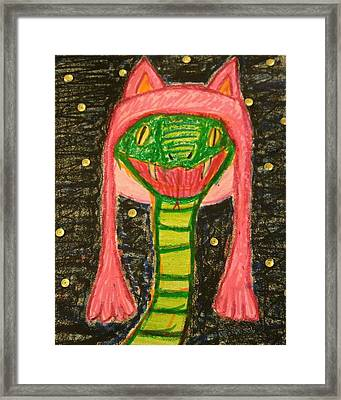 I Dressed Up Like A Cat Because I Heard You Like Cats Framed Print by Jacqueline Flannigan