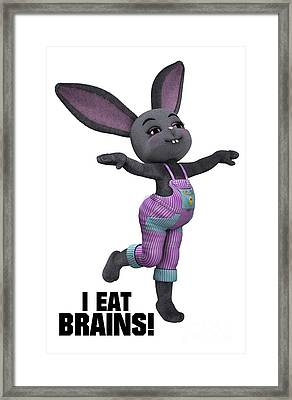 I Eat Brains Framed Print by Esoterica Art Agency