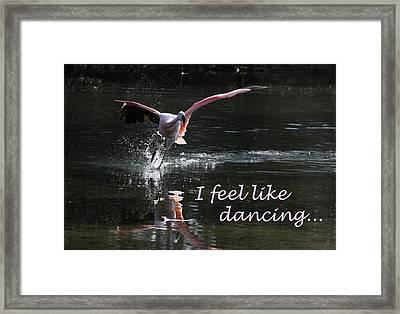 I Feel Like Dancing Framed Print by Karol Livote