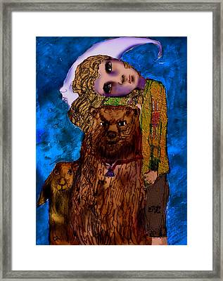 I Fell Framed Print by Cynthia Richards