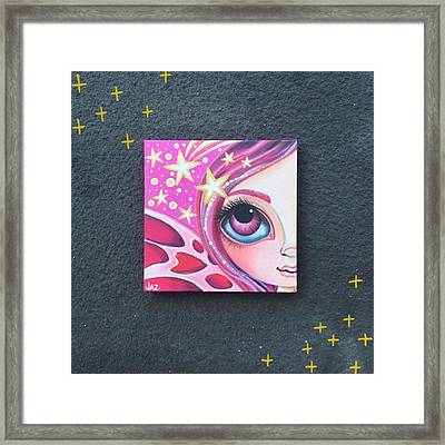I Finished Another Mini Painting Today Framed Print by Jaz Higgins