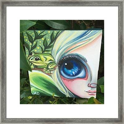 I Finished The Little Frog Fairy. I Framed Print by Jaz Higgins