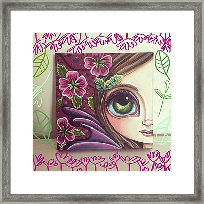 I Finished This Little Fairy This Framed Print by Jaz Higgins