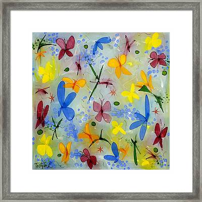 I Flit Through Life Three Framed Print