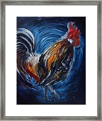 I Gayu Guam Rooster Framed Print