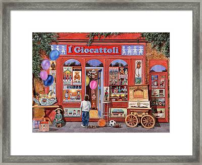 I Giocattoli Framed Print by Guido Borelli