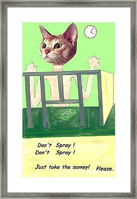 I Give Up Framed Print by Bethwyn Mills