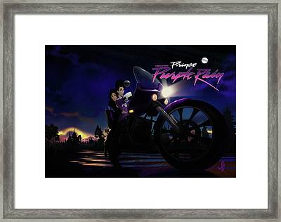 Framed Print featuring the digital art I Grew Up With Purplerain 2 by Nelson dedos Garcia