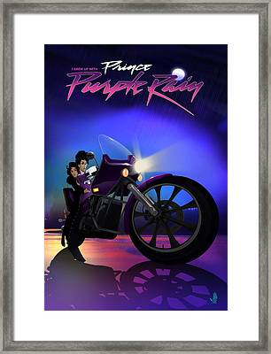 Framed Print featuring the digital art I Grew Up With Purplerain by Nelson dedos Garcia