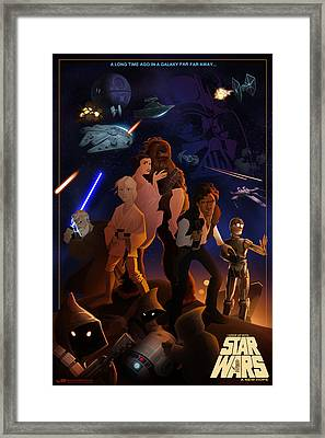 Framed Print featuring the digital art I Grew Up With Starwars by Nelson Dedos  Garcia