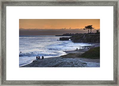 I Had A Dream And I Stood Beneath An Orange Sky Framed Print by Peter Thoeny