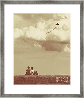 I Had A Dream I Could Fly From The Highest Swing Framed Print