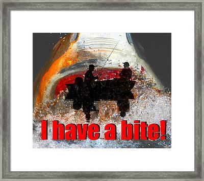 I Have A Bite Framed Print by David Lee Thompson