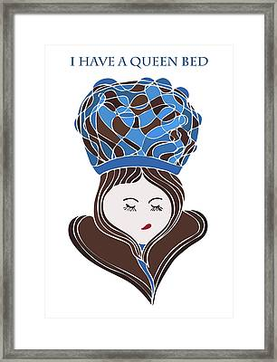 Framed Print featuring the drawing I Have A Queen Bed by Frank Tschakert