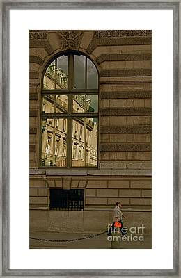 I Have A Very Red Bag Framed Print by Louise Fahy