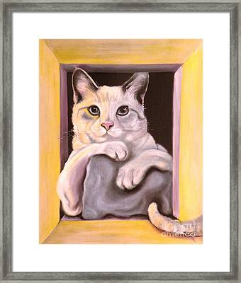 I Have Been Framed Framed Print by Susan A Becker