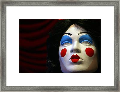I Have Forgotten What A Kiss Feels Like Framed Print by Jez C Self