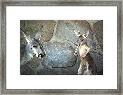 I Have Muscles Framed Print