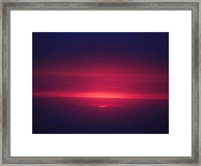 I Have Seen His Beauty In The Sunrise Framed Print