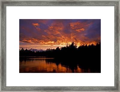 I Have Seen Rain And I Have Seen Fire Framed Print by Larry Ricker