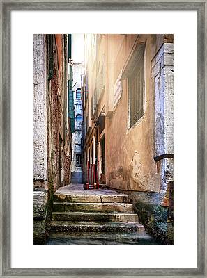 I Have Seen Your Trolley, Somewhere In Venice Framed Print