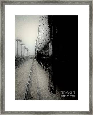 Framed Print featuring the drawing I Hear That Lonesome Whistle Blow by RC deWinter