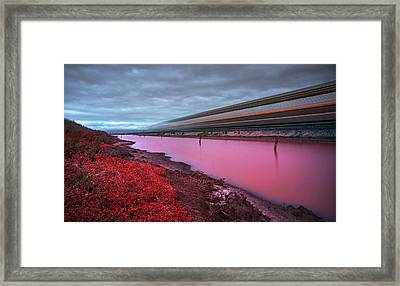 I Hear The Ghost Train Rumbling Along The Tracks Framed Print by Peter Thoeny