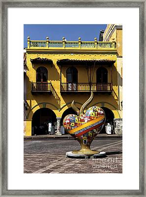 I Heart Cartagena Framed Print by John Rizzuto