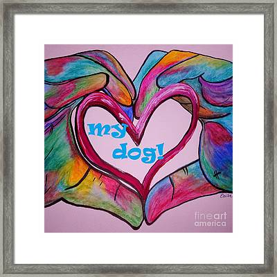 I Heart My Dog Framed Print