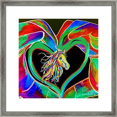 I Heart My Horse Framed Print by Eloise Schneider