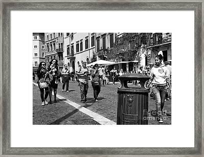 I Heart Rome Framed Print by John Rizzuto