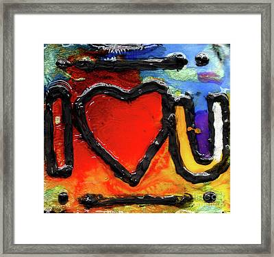 Framed Print featuring the painting I Heart You by Genevieve Esson