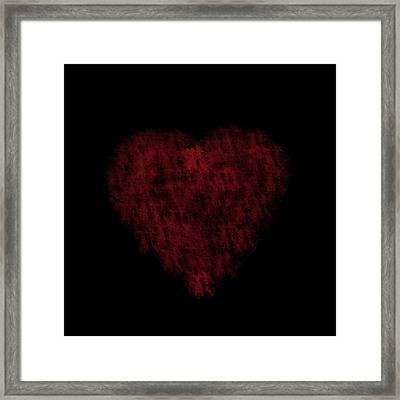 I Heart You Framed Print by Rhonda Barrett