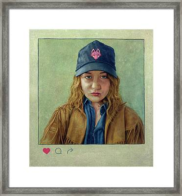 I Hearted This Girl Framed Print by James W Johnson