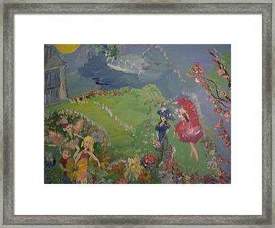 Framed Print featuring the painting I Hope Fairies Are Real by Judith Desrosiers