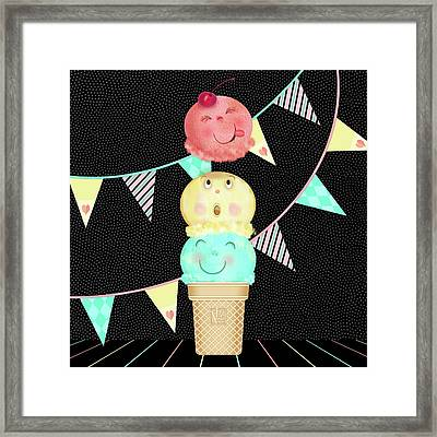 I Is For Ice Cream Cone Framed Print