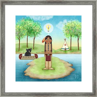I Is For Indian Framed Print