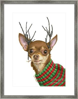 I Is Ready Fer Christmas Framed Print by Sarah Batalka
