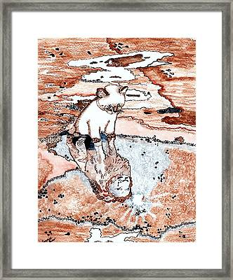 I Knew You Were There     Framed Print by Connie Valasco