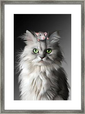 I Know Its Here     Somewhere Framed Print by Julie L Hoddinott