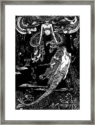 I Know What You Want Said The Sea Witch, Illustration For The Little Mermaid  Framed Print
