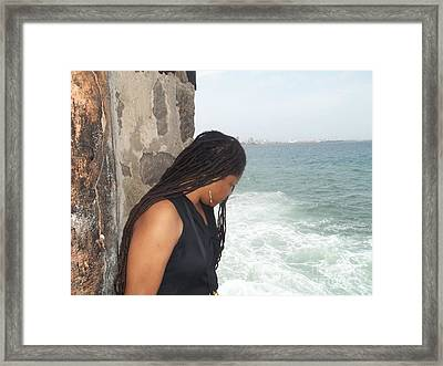 I Know Who Made The Ocean Framed Print