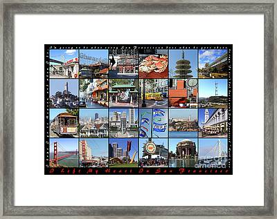 I Left My Heart In San Francisco 20150103 Horizontal With Text Framed Print